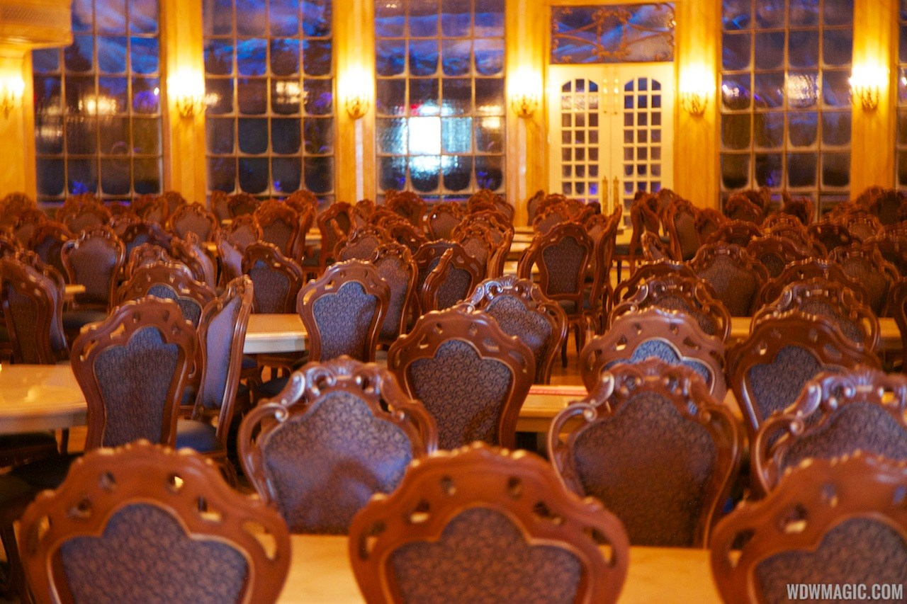 Inside Be Our Guest Restaurant (pre-opening)