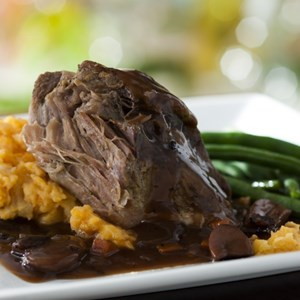 3 of 6: Be Our Guest Restaurant - Roasted Pulled Pork from the Kids' Menu at Be Our Guest Restaurant