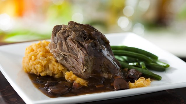 Be Our Guest Restaurant - Roasted Pulled Pork from the Kids' Menu at Be Our Guest Restaurant