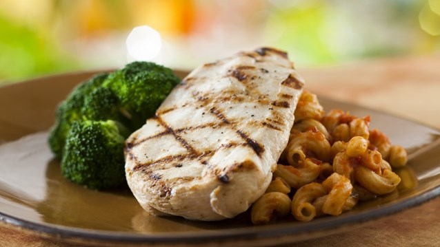 Be Our Guest Restaurant - Grilled Chicken Breast from the Kids' Menu at Be Our Guest Restaurant