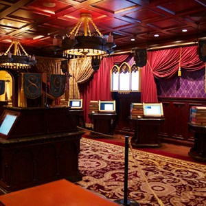 3 of 19: Be Our Guest Restaurant - Be Our Guest Restaurant - The Parlor Room where guests will place lunch orders