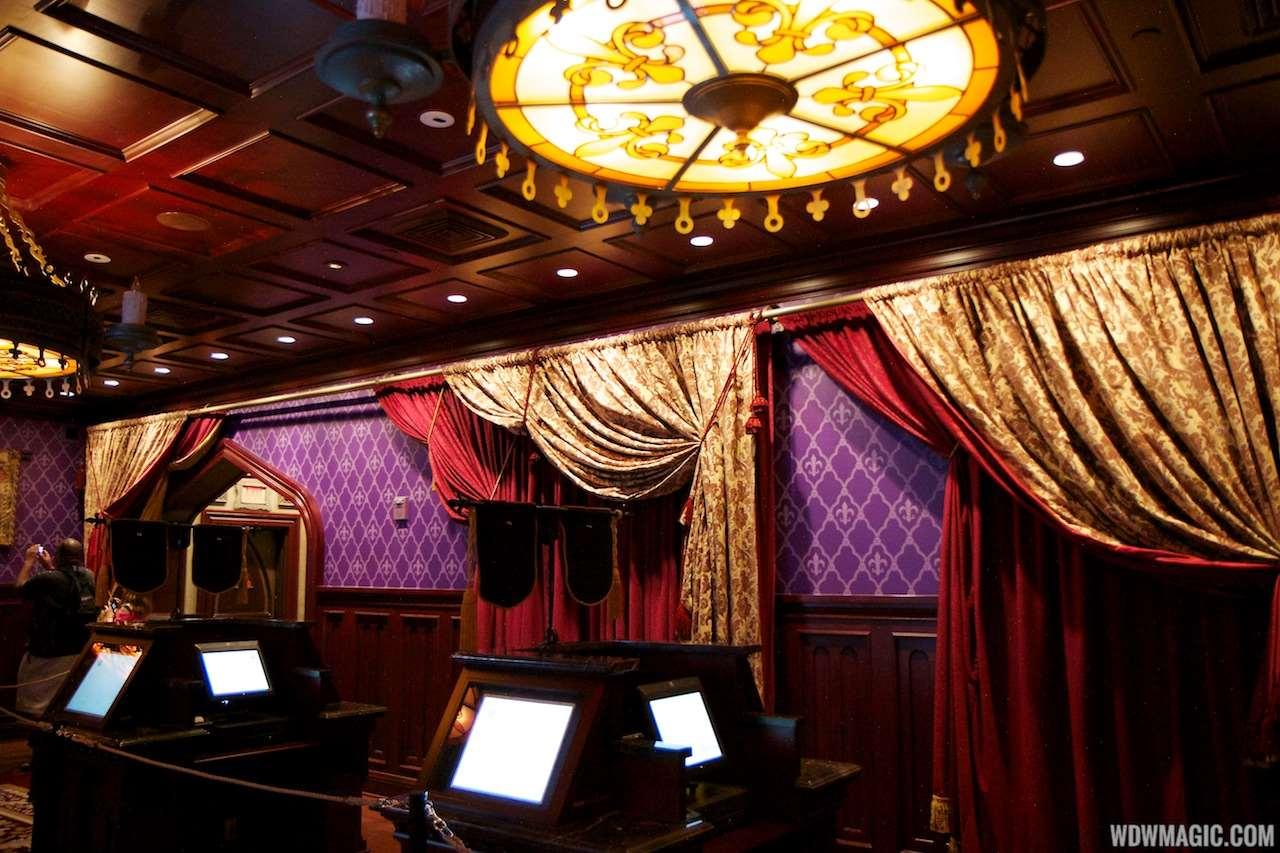 photos - a tour inside be our guest restaurant's parlor room, west