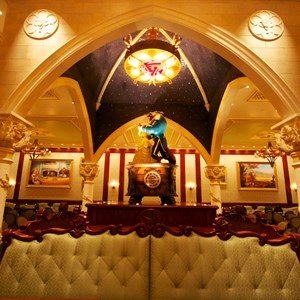 9 of 19: Be Our Guest Restaurant - Be Our Guest Restaurant - Inside the Rose Gallery Dining Room