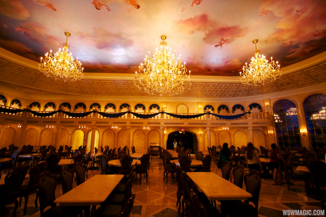 be our guest dining rooms | Inside Be Our Guest Restaurant dining rooms - Photo 17 of 19