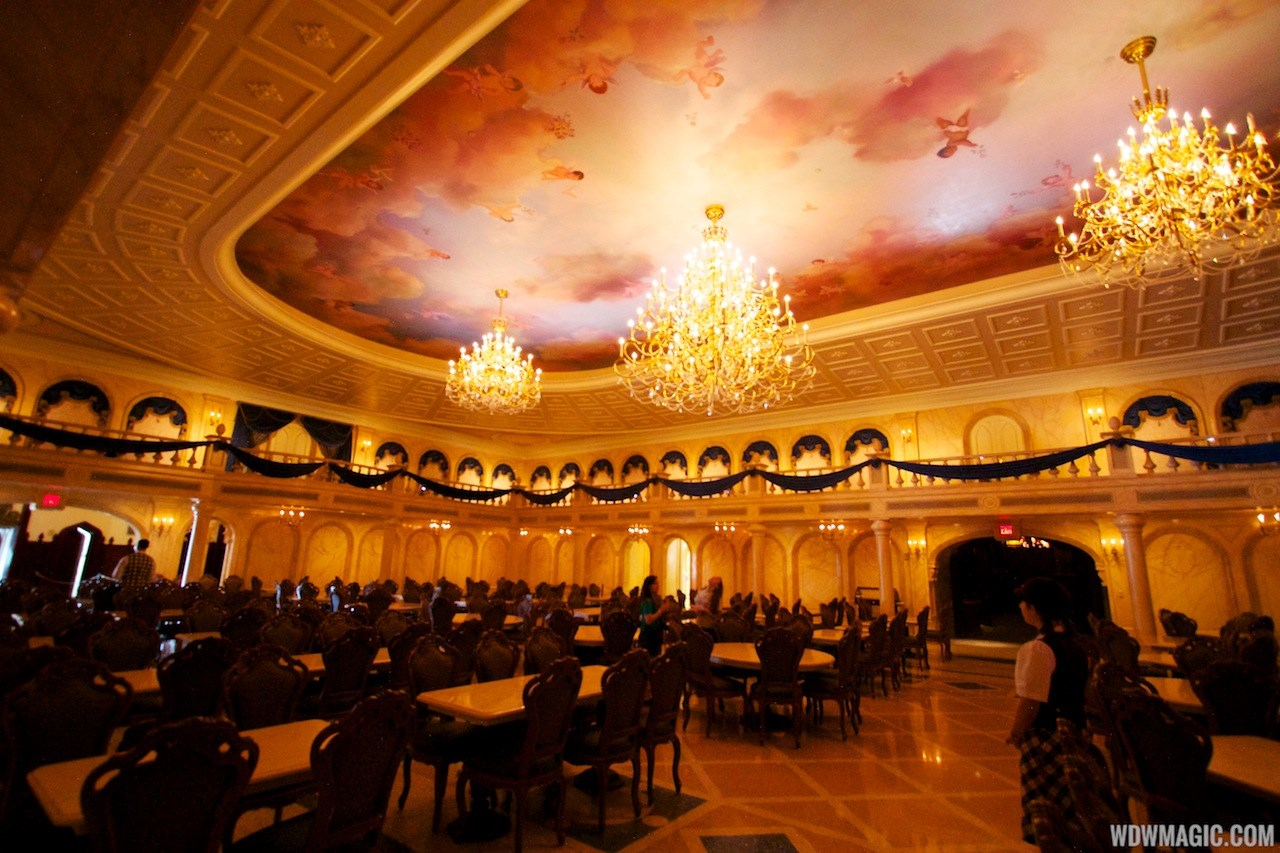 Inside Be Our Guest Restaurant dining rooms