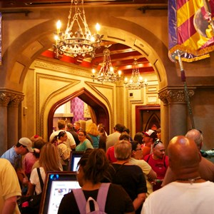 1 of 25: Be Our Guest Restaurant - Be Our Guest Restaurant lunch - queuing in the Armory Room