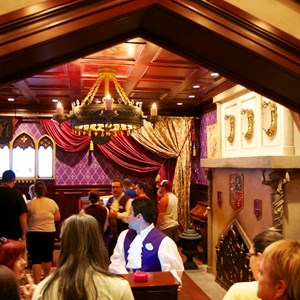 5 of 25: Be Our Guest Restaurant - Be Our Guest Restaurant lunch - The podium prior to entering the Parlor Room to order