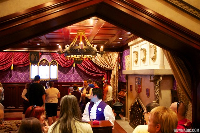 Be Our Guest Restaurant - Be Our Guest Restaurant lunch - The podium prior to entering the Parlor Room to order
