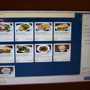 10 of 25: Be Our Guest Restaurant - Be Our Guest Restaurant lunch - The ordering kiosk screen