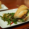 Be Our Guest Restaurant - Be Our Guest Restaurant lunch -  Grilled Steak Sandwich and vegetables