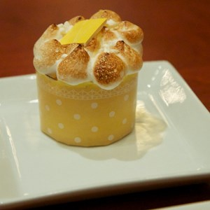 22 of 25: Be Our Guest Restaurant - Be Our Guest Restaurant lunch -  Lemon Meringue cupcake