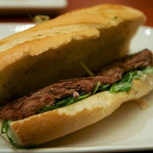 18 of 25: Be Our Guest Restaurant - Be Our Guest Restaurant lunch -  Grilled Steak Sandwich