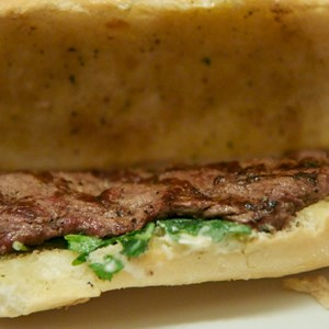 19 of 25: Be Our Guest Restaurant - Be Our Guest Restaurant lunch -  Grilled Steak Sandwich