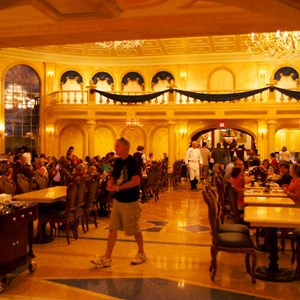 23 of 25: Be Our Guest Restaurant - Be Our Guest Restaurant lunch -  The Ballroom full of guests