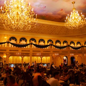 25 of 25: Be Our Guest Restaurant - Be Our Guest Restaurant lunch -  The Ballroom full of guests