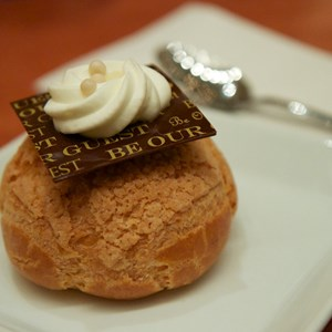 21 of 25: Be Our Guest Restaurant - Be Our Guest Restaurant lunch - Passion fruit Cream Puff