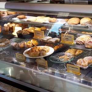8 of 19: Boardwalk Bakery - Inside the new Boardwalk Bakery - Baked goods case