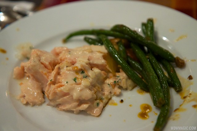 Boma - Flavors of Africa - Boma Dinner buffet plate - Salmon and green beans