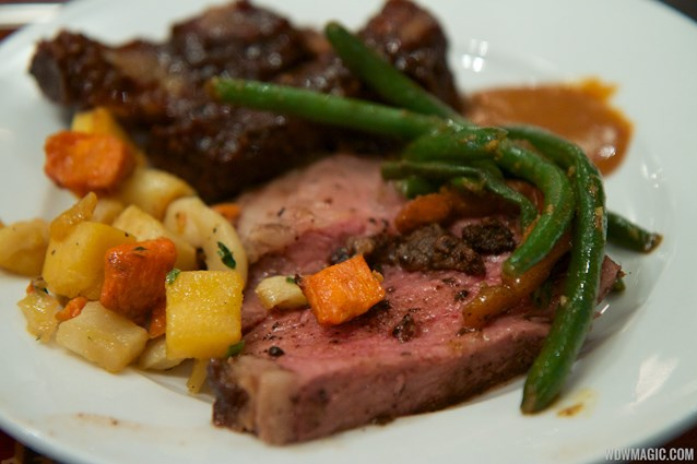 Boma - Flavors of Africa - Boma Dinner buffet plate - Strip loin, green beans, root vegetables and ribs