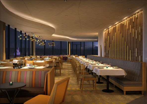 Concept art of the new look California Grill dining room