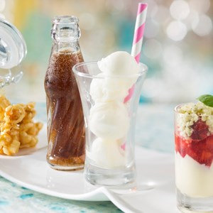 20 of 20: California Grill - New California Grill menu - California Grill Sundae Sampler includes a trio of nostalgic tastes: caramel corn, Coca-Cola float, and strawberry and basil