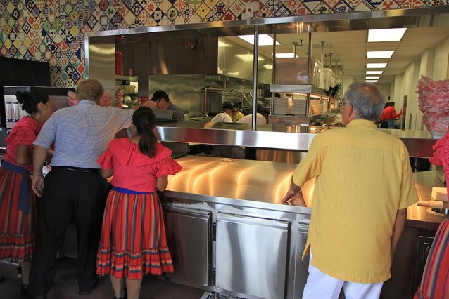 La Cantina de San Angel - The kitchens and pickup area