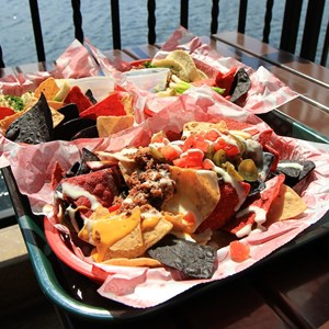 9 of 20: La Cantina de San Angel - Nachos, Tacos de Pollo and Tacos de Carne