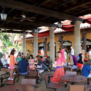 15 of 20: La Cantina de San Angel - Dining area and service windows