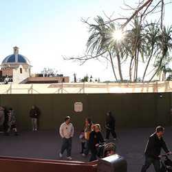 Cantina de San Angel refurbishment walls