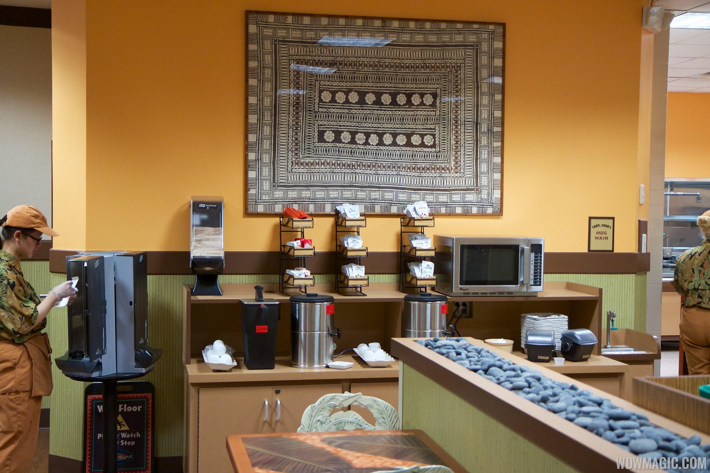 Temporary Captain Cook's at Disney's Polynesian Resort