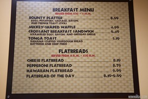 Temporary Captain Cook's - Breakfast menu