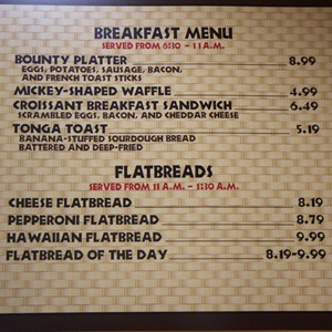9 of 11: Captain Cook's - Temporary Captain Cook's - Breakfast menu