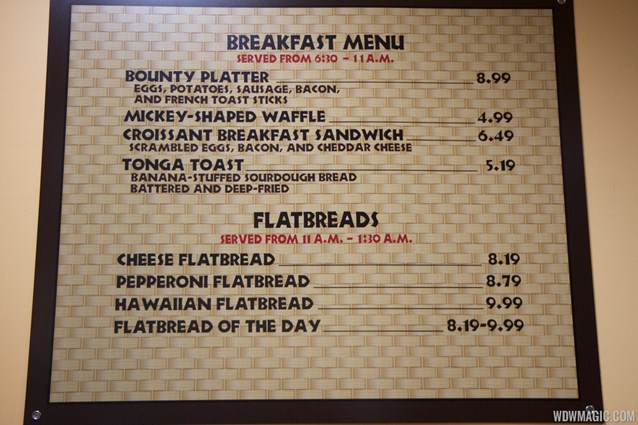 Captain Cook's - Temporary Captain Cook's - Breakfast menu