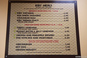 Temporary Captain Cook's - Kids menu