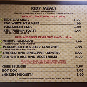 10 of 11: Captain Cook's - Temporary Captain Cook's - Kids menu