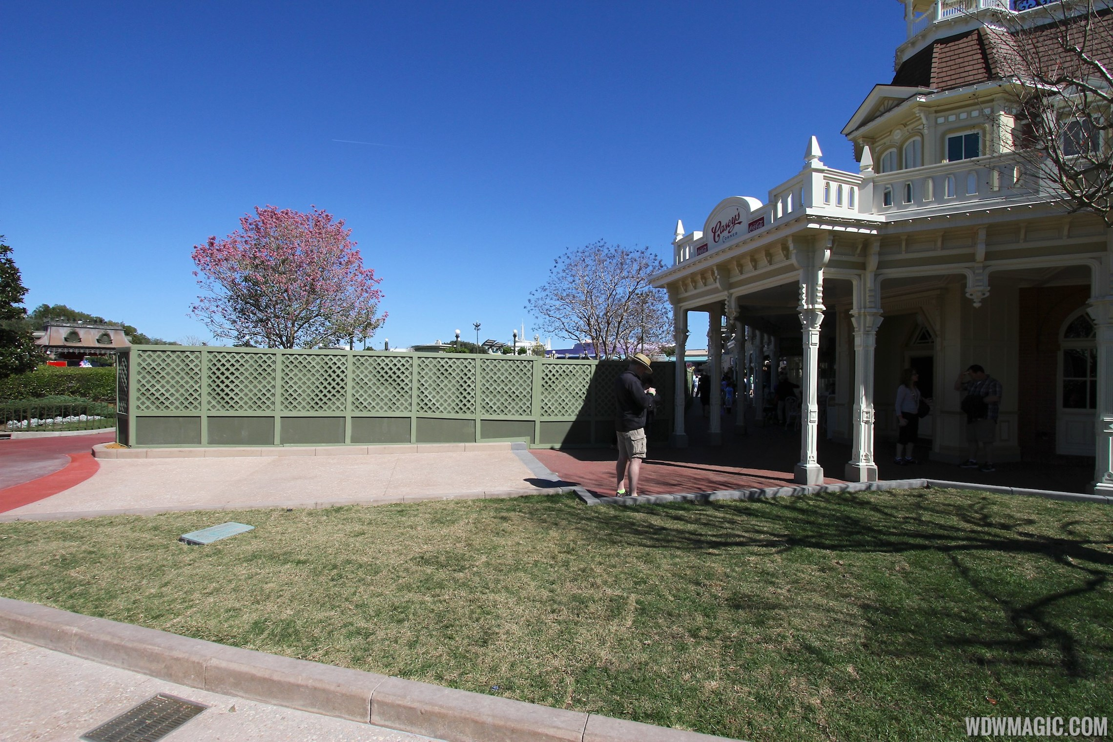 Casey's Corner exterior walkway area refurbishment