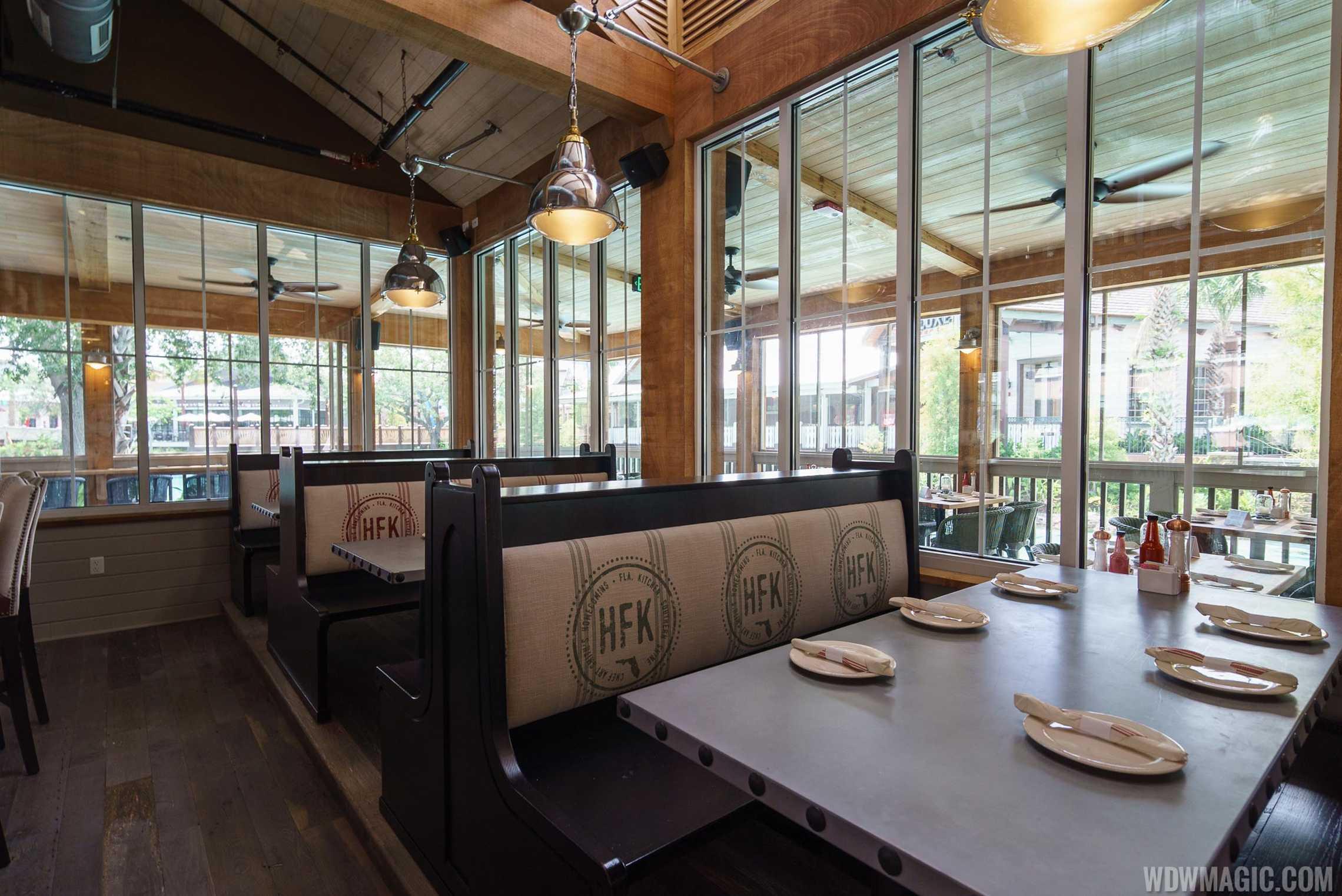 Homecoming: Florida Kitchen and Shine Bar seating