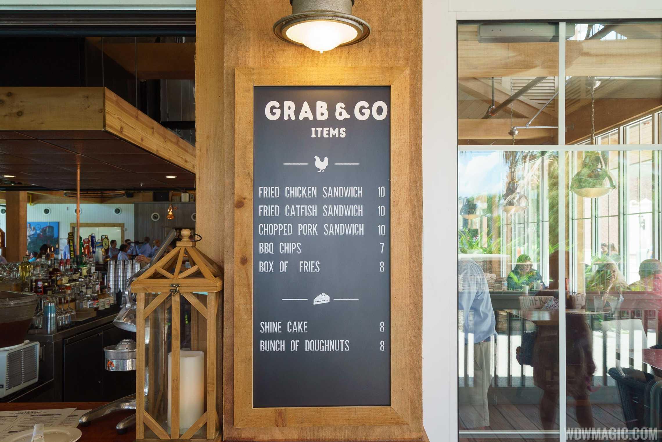 Homecoming restaurant - Grab and Go menu