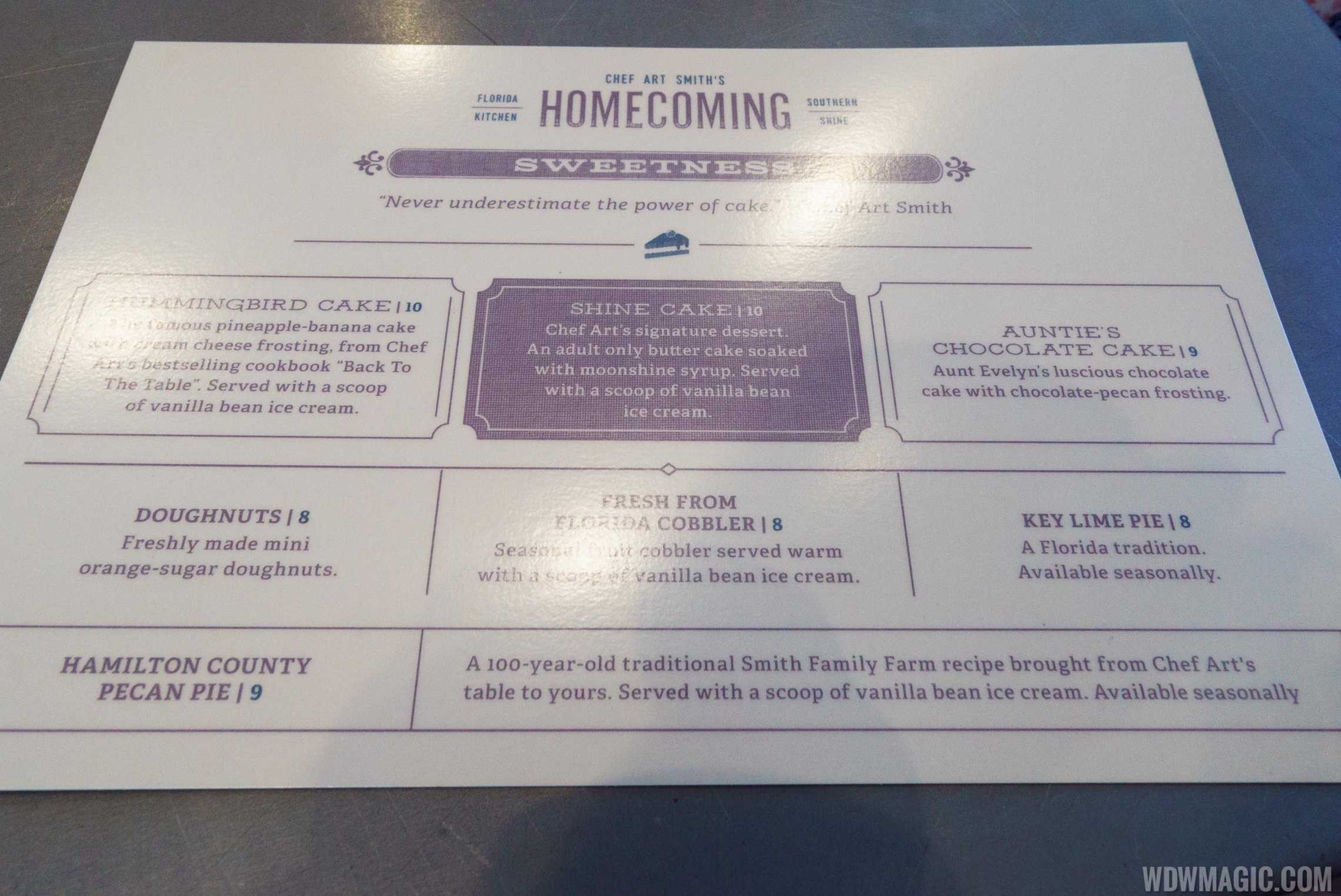 Homecoming florida kitchen overview photo 35 of 36 for Magic kitchen menu