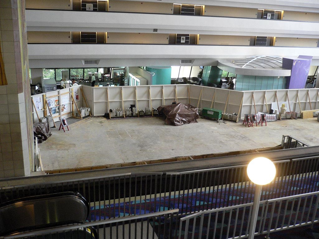 Concourse Steakhouse now completely removed to make way for new location
