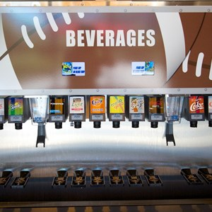 12 of 20: End Zone Food Court - New All Star Sports End Zone Food Court - Fountain sodas