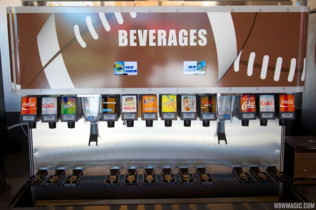End Zone Food Court - New All Star Sports End Zone Food Court - Fountain sodas