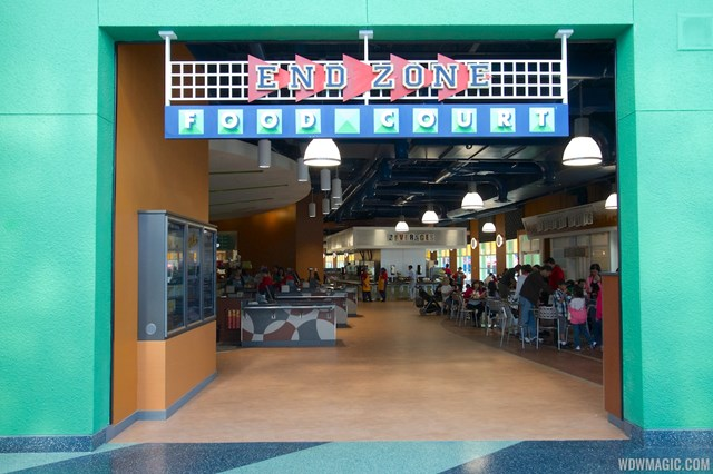 The new End Zone Food Court at Disney's All Star Sports Resort