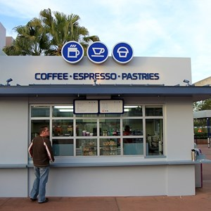1 of 2: Epcot Monorail Station Coffee and Pastries - Epcot Monorail Station Coffee and Pastries now open