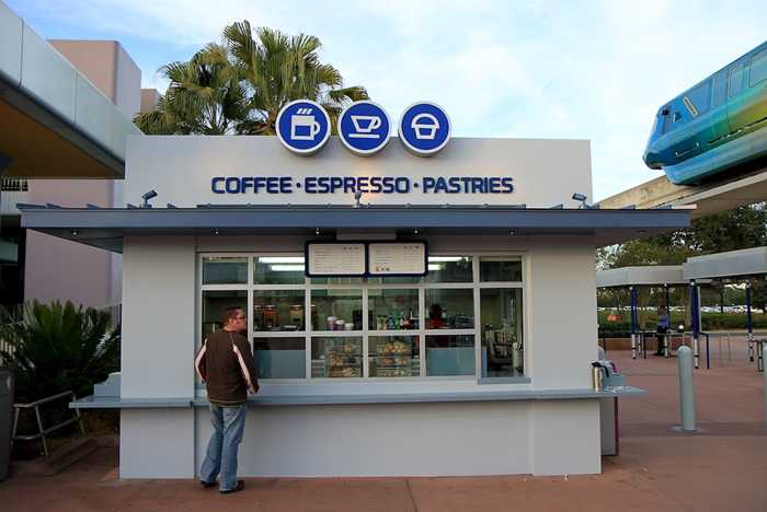 Epcot Monorail Station Coffee and Pastries now open