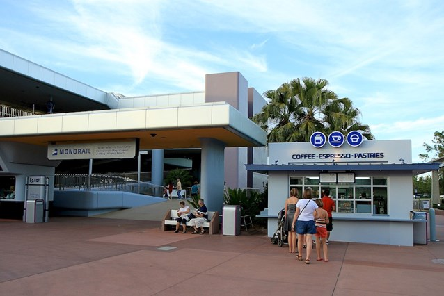 Epcot Monorail Station Coffee and Pastries