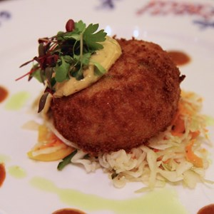 "2 of 7: Flying Fish Cafe - Flying Fish Cafe food - ""Crispy Maine Coast Jonah Crab Cake"" -