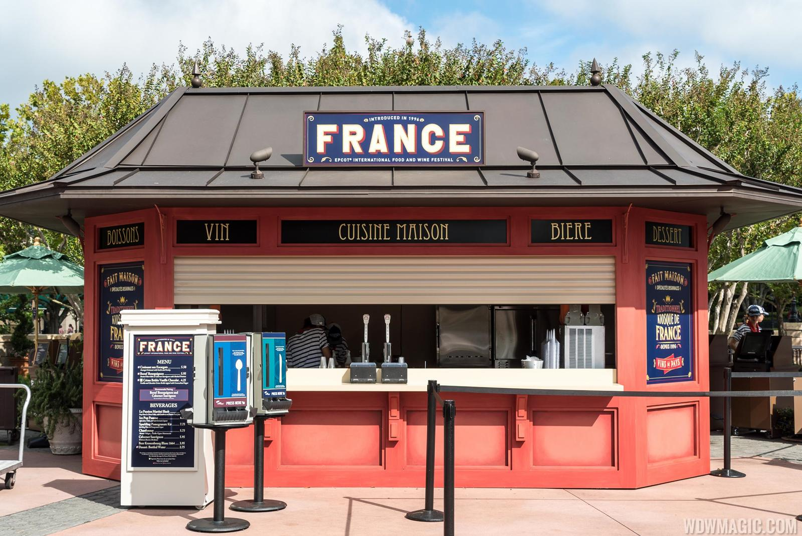 France Food and Wine Festival kiosk 2015