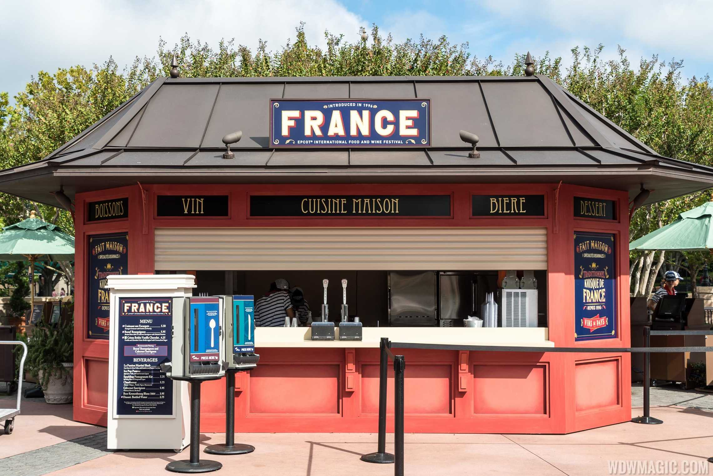 France Food and Wine Festival kiosk 2015