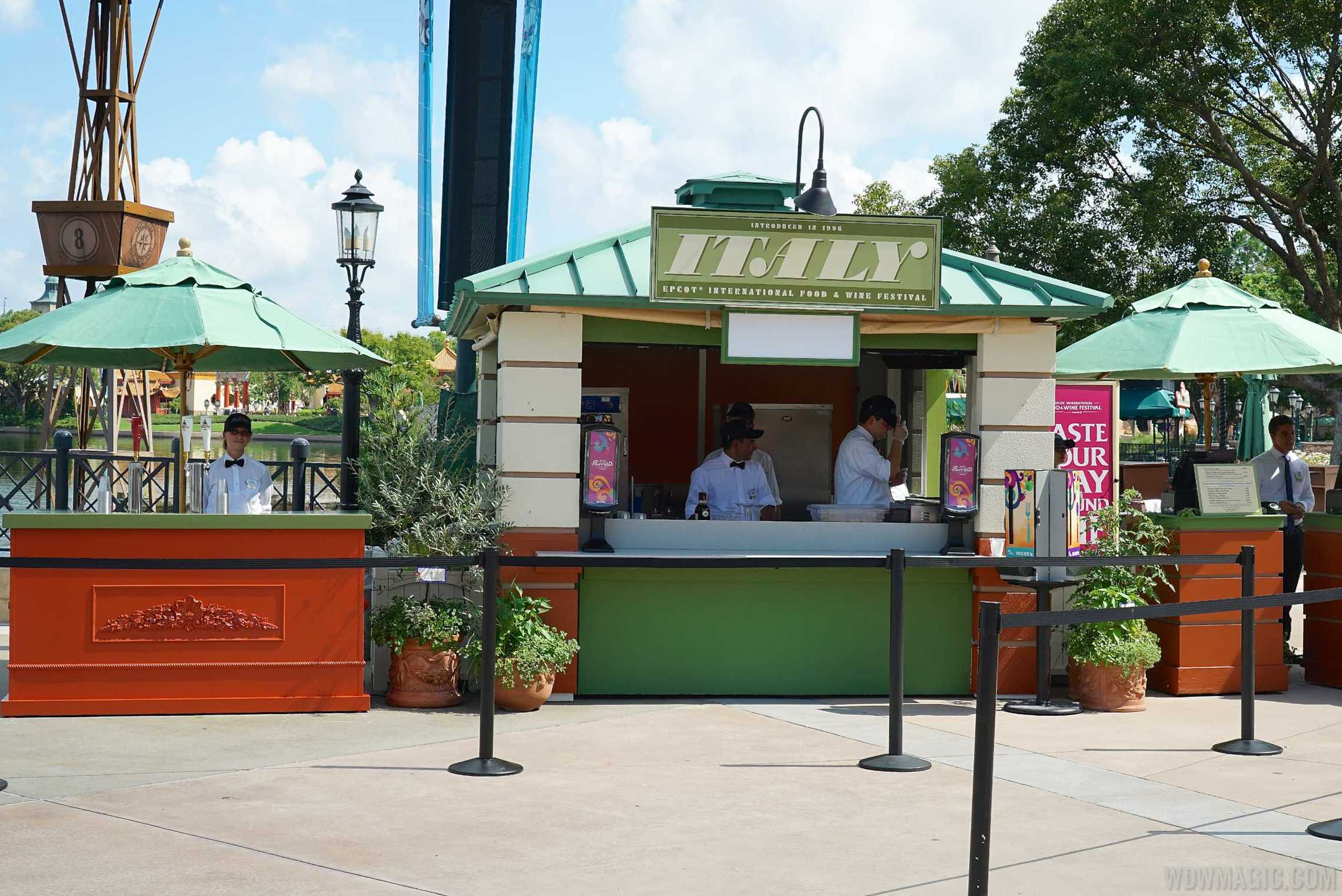Italy Food and Wine Festival kiosk